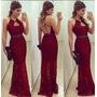 Vestido Longo Marsala Vinho Rabo De Sereia #vl6 Costas Nuas