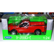 1:24 Ford Pick Up F150 Regular Cab 2015 Rojo Welly C Caja