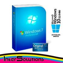 Windows 7 Pro Professional Sp1 Licencia Original Para 3 Pc
