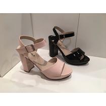 Zapatos Sandalias Plataforma Color Nude Y Negro