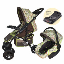 Cochecitos Huevito C/base Travel System 1325ts Verde Monitos