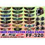 Skin Para Visor Ls2 Ff-320 Stream Omega R15 Fz Pulsar Ns200