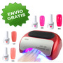 Kit Lampara Led 48w Temporizador 8 Gelish Base Y Top