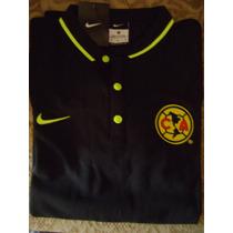 Nike Club America Playera Negra De Tipo Polo Concentracion