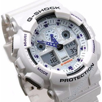 Casio G-shock Ga100 A7 Branco Ga-100 - 100% Original