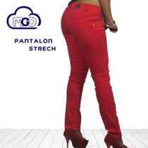 Pantalón Jeans Strech De Colores Mgo Originales