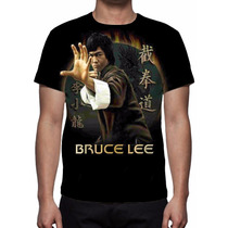 Camisa, Camiseta Bruce Lee Dragão Mod 02 - Estampa Total