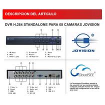 Dvr Marca Jovision 8 Canales Camaras Full D1