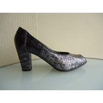 Sandalias Zapatos Pollini Nº 36 Cuero Grises Cocodrilo