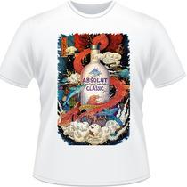 Camisa Absolut Garrafa Drink Vodka Bartender Camiseta #2