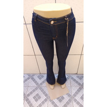 Calca Jeans Hot Pants Bandagem Flare Estilo Boca De Sino R1