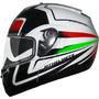 Capacete Mt Sv Optimus Tricolor Italia Pto/branco 57/58 Rs1
