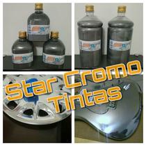 Tinta Cromo Roda Cromada 500ml Crome Carro Moto Caminhão