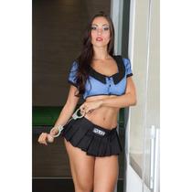 Fantasia Sexy Policial Feminina Sensual Erótica Frete Grátis