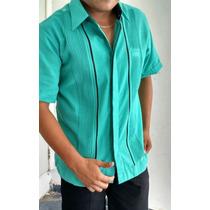 Guayabera Guayamisa Lino Flame Yucateca (no Algodón) Camisa