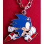 Sonic The Hedgehog Dije Colgante Con Cadena