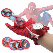 Lança Teias Homem Aranha Par Luva Brinquedo Lançador Spider
