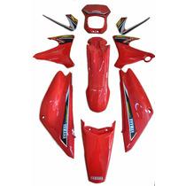 Kit Carenagem Completo Xtz 125 Vermelho 2003 C/adesivada