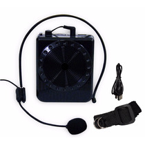 Microfone Amplificador De Voz Usb Caixa De Som Aula Palestra