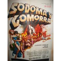 Poster Pelicula ** Sodoma Y Gomorra ** Año 1962