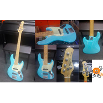 Baixo Tagima 5 Cordas Tjb-535 Azul Vintage