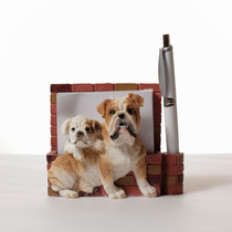 Portanotas Imantado De Ceramica Bulldog - Hermoso!