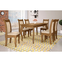 Mesa Cozinha Jantar 6 Cadeiras Colonial - Art Panta