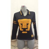 Jersey Para Dama Retro Pumas Unam Escudo Cosido En Oferta