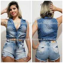 Shorts Jeans Cintura Alta Hot Pants Curto Panicat !!!