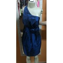Vestido De Tafetá De Seda Azul Petróleo