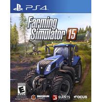 Farming Simulator 15 - Ps4 Novo Mídia Física Original