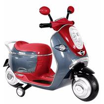 Scooter Niño Minimoto Retro Rojo Vintage Motocicleta