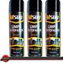 Kit 3 Higienizador Limpa Estofado Tecido Couro Bancos Spray
