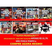 Gta Grand Theft Auto San Andreas Play 2 (kit 8 Jogos Ps2