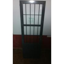 Puerta Reja 67 X 206 Cm Con Cerradura Muy Reforzada