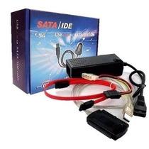 Cabo Adaptador Usb 2.0 Hd Conversor P/ Ide Sata Fonte 3 Em 1
