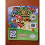 Label Super Mario 64 - Etiquetas Fitas N64 100% !