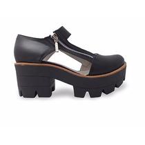 Zapato Plataforma Dama En Cuero Marcel Calzados (cod.qb002)