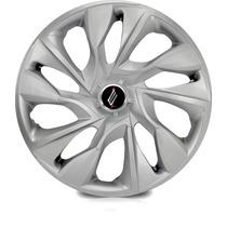 Jogo Calota Aro 15 Ds4 Silver Universal Sportiva Tuning