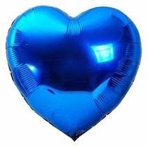 20 Balões Metalizados Coração Estrela 45cm Gas Festa Balão