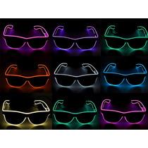 Óculos Neon, Led, Tomorrowland Várias Cores Lente Escura