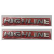 Kit Par Emblemas Highline Gol Fox Voyage Parati + Brinde