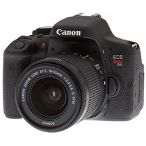 Camera Canon Eos Rebel T6i Dslr Ef-s 18-55 Stm + Brindes