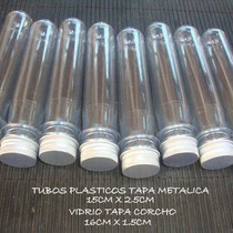 Tubos De Ensayo Plastico T / Metalica 50 X $