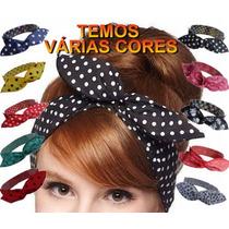Faixa Cabelo Com Arame Pinup Tiara Headband Moda Turbante