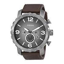 Reloj Del Cuero De Los Hombres Del Cronógrafo J Envío Gratis