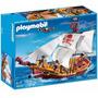 Barco Pirata Playmobil Grande 5678 74pc 3 Muñecos Y Acces.