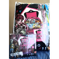 Acolchados Infantiles + Sabanas Piñata Monster High Original