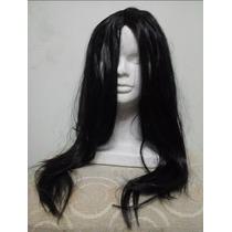 Peluca Negra Sintetica 42cm Para Disfraces