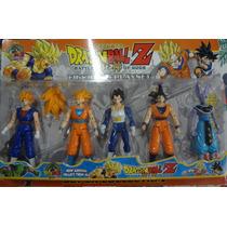 Kit Dragon Ball Z Com 5 Bonecos Articulados